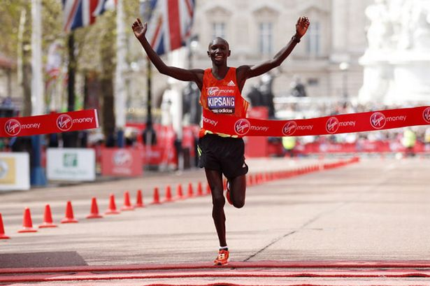 Wilson Kipsang of Kenya wins the Men's London marathon-802281
