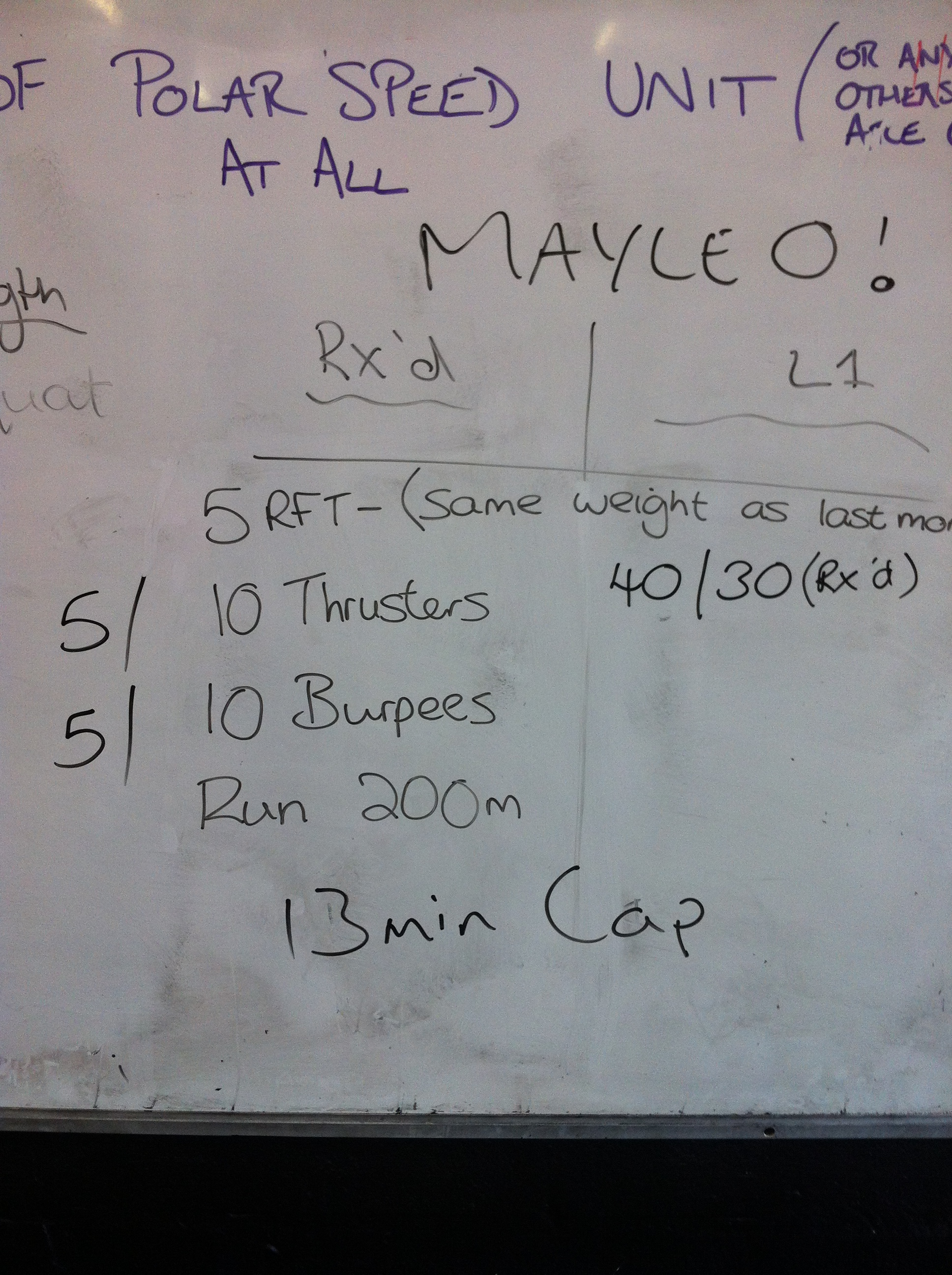 Bench mark WOD