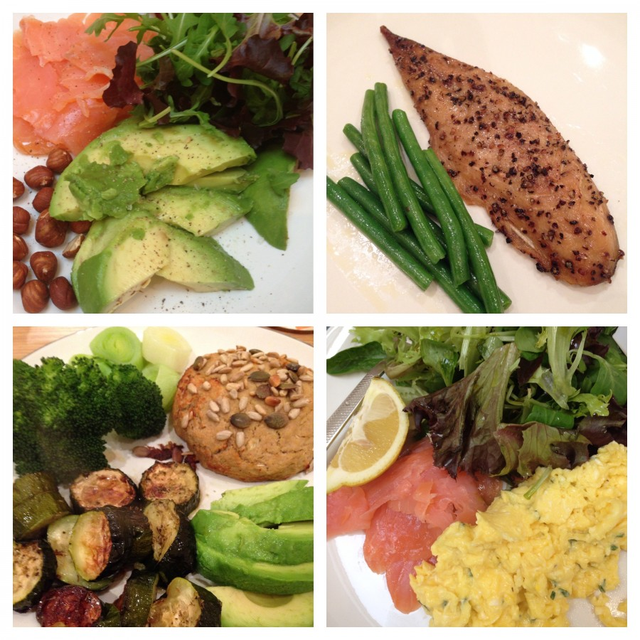 Some of the meals I've eaten on 'Fish & Greens' this week