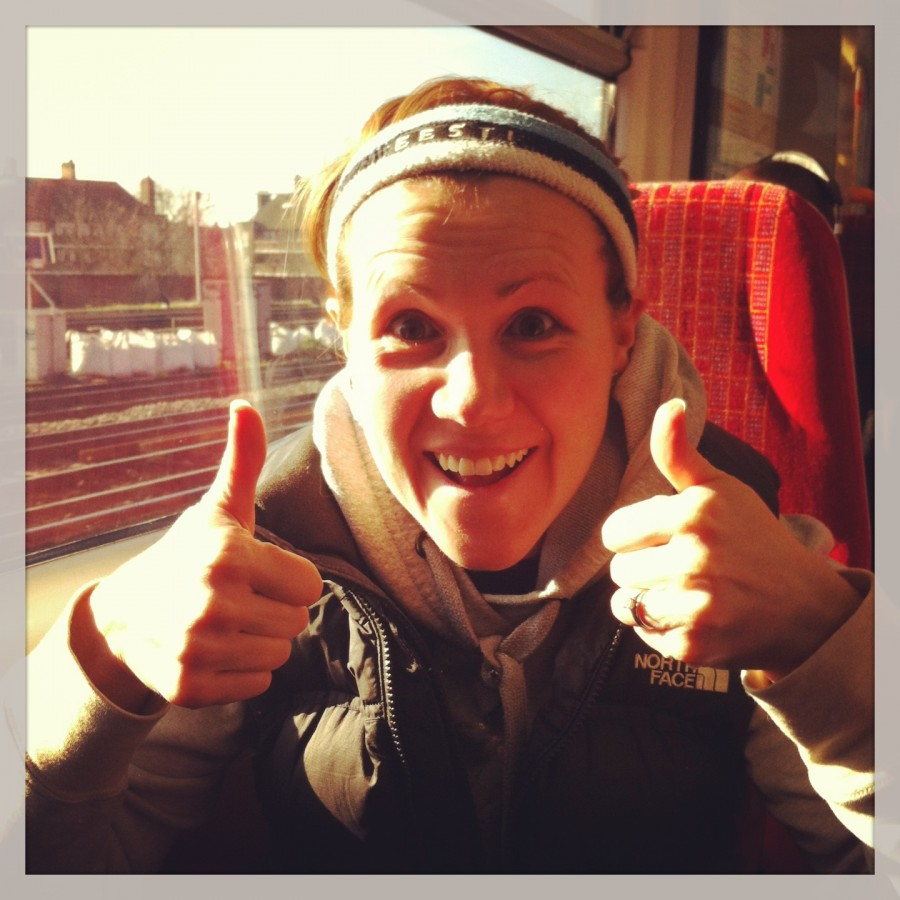 On the way to the London Marathon. Food was essential to mood during my training. This (albeit slightly delirious) face says it all. We should take life as seriously as we do preparing for a major event when it comes to our nutrition