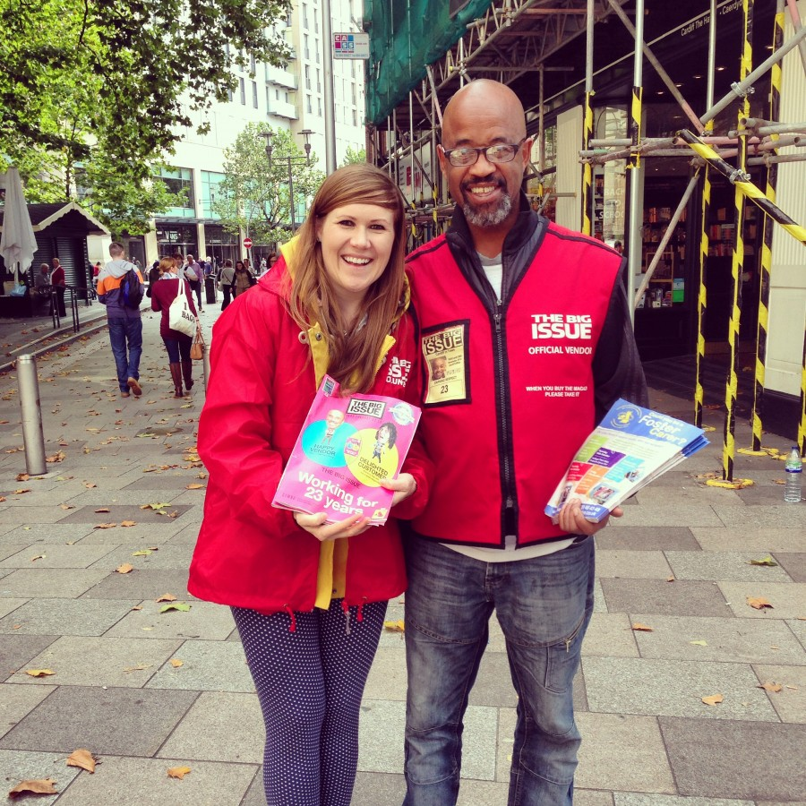 Keep an eye out for Ahmed at his patch just outside Waterstones in Cardiff city centre