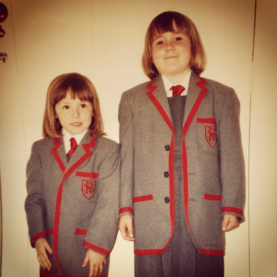 Aged 7 (right)
