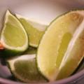 Limes sliced