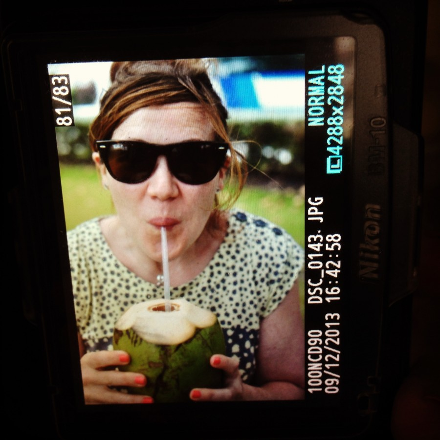 Holidays in good health - juice straight from a Caribbean coconut