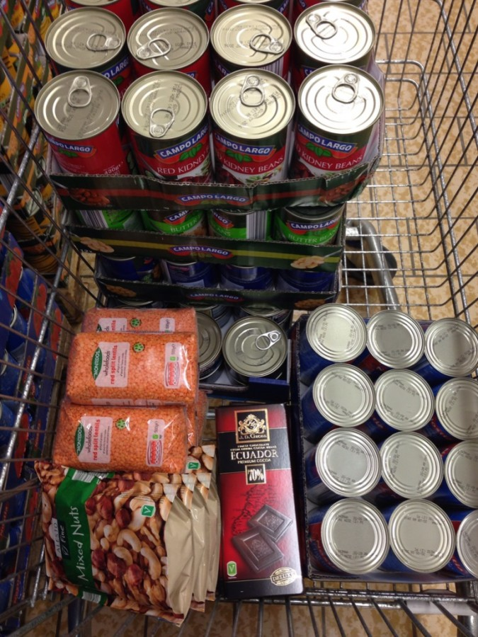 Food bank contributions care of Lidl's excellent offers