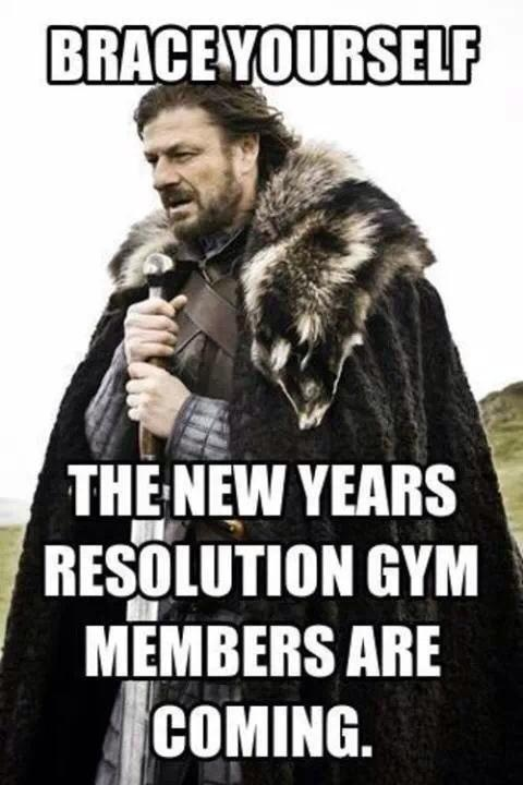 New Year gym