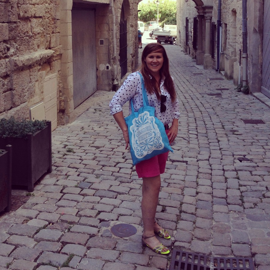 Full of the joie de vivre on the cobbled streets of Uzes.